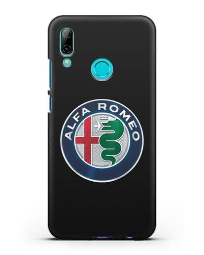 Чехол с логотипом Alfa Romeo силикон черный для Huawei P Smart 2019
