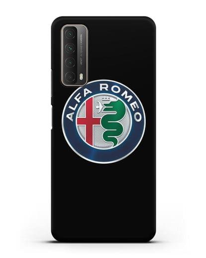 Чехол с логотипом Alfa Romeo силикон черный для Huawei P Smart 2021