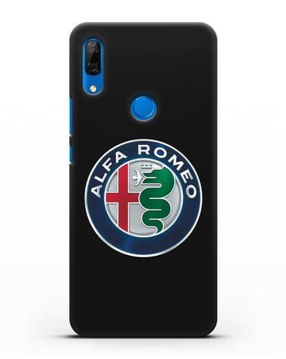 Чехол с логотипом Alfa Romeo силикон черный для Huawei P Smart Z