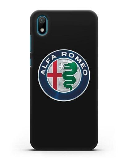 Чехол с логотипом Alfa Romeo силикон черный для Huawei Y5 2019