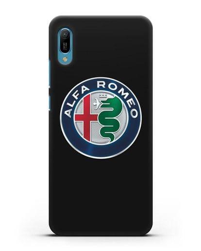 Чехол с логотипом Alfa Romeo силикон черный для Huawei Y6 2019
