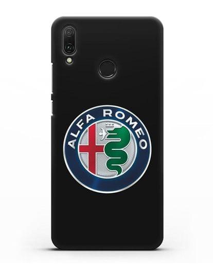 Чехол с логотипом Alfa Romeo силикон черный для Huawei Y9 2019