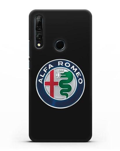 Чехол с логотипом Alfa Romeo силикон черный для Huawei Y9 Prime 2019