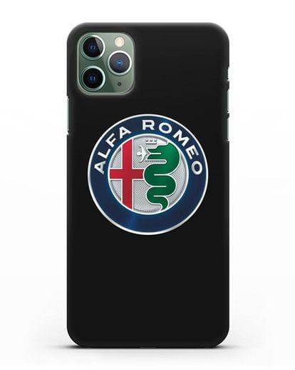 Чехол с логотипом Alfa Romeo силикон черный для iPhone 11 Pro Max
