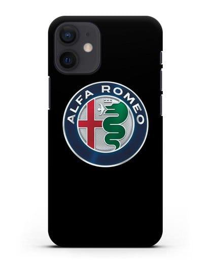 Чехол с логотипом Alfa Romeo силикон черный для iPhone 12 mini