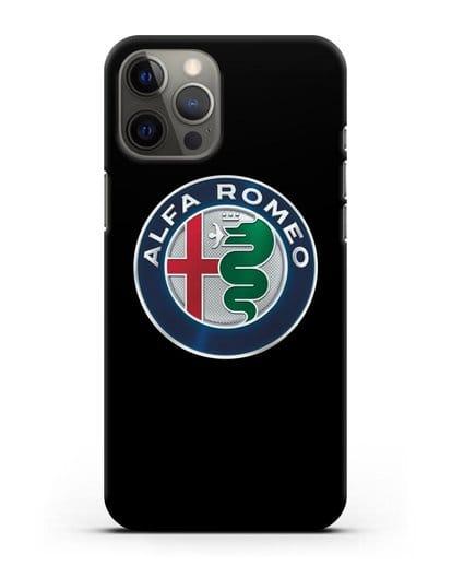 Чехол с логотипом Alfa Romeo силикон черный для iPhone 12 Pro Max