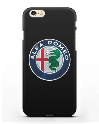 Чехол с логотипом Alfa Romeo силикон черный для iPhone 6s