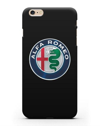 Чехол с логотипом Alfa Romeo силикон черный для iPhone 6 Plus