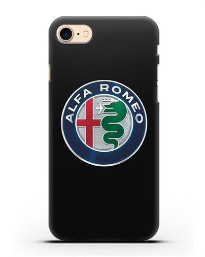 Чехол с логотипом Alfa Romeo силикон черный для iPhone 8