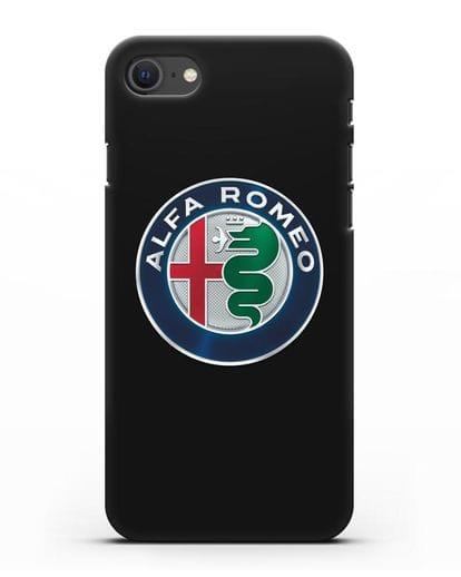 Чехол с логотипом Alfa Romeo силикон черный для iPhone SE 2020