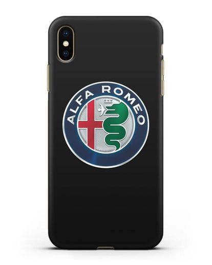 Чехол с логотипом Alfa Romeo силикон черный для iPhone XS Max