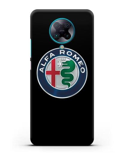Чехол с логотипом Alfa Romeo силикон черный для Xiaomi Poco F2 Pro