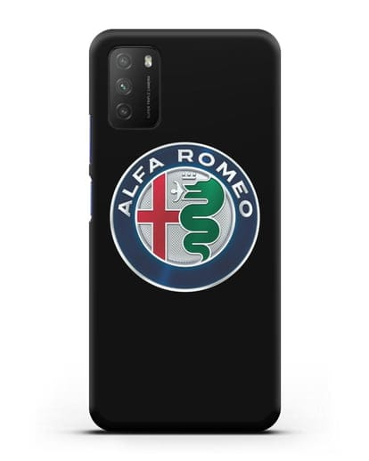 Чехол с логотипом Alfa Romeo силикон черный для Xiaomi Poco M3