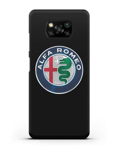 Чехол с логотипом Alfa Romeo силикон черный для Xiaomi Poco X3