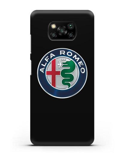 Чехол с логотипом Alfa Romeo силикон черный для Xiaomi Poco X3 Pro
