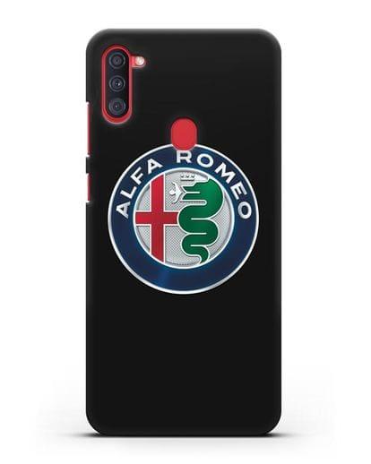 Чехол с логотипом Alfa Romeo силикон черный для Samsung Galaxy A11 [SM-A115F]