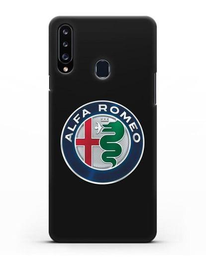 Чехол с логотипом Alfa Romeo силикон черный для Samsung Galaxy A20s [SM-A207FN]