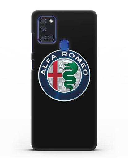 Чехол с логотипом Alfa Romeo силикон черный для Samsung Galaxy A21s [SM-A217F]