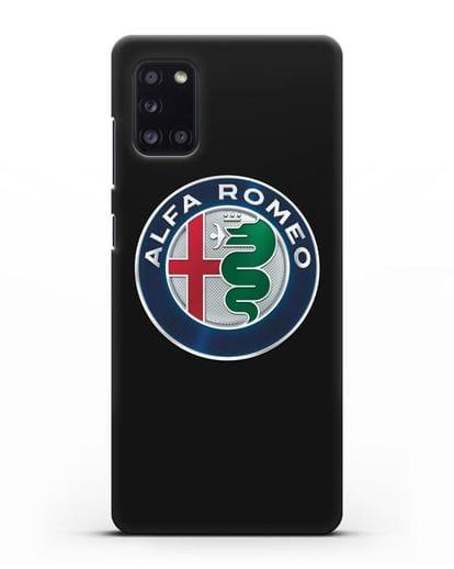 Чехол с логотипом Alfa Romeo силикон черный для Samsung Galaxy A31 [SM-A315F]