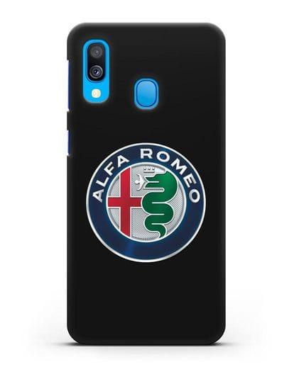 Чехол с логотипом Alfa Romeo силикон черный для Samsung Galaxy A40 [SM-A405F]