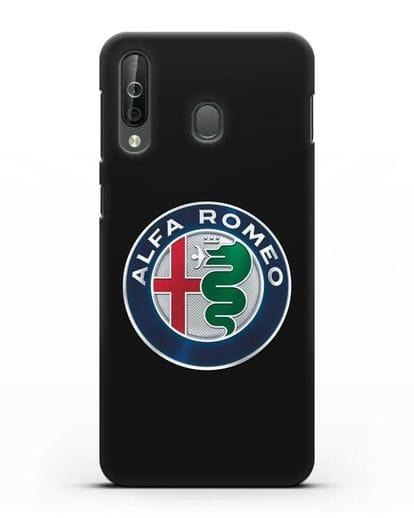 Чехол с логотипом Alfa Romeo силикон черный для Samsung Galaxy A40s [SM-A507FN]
