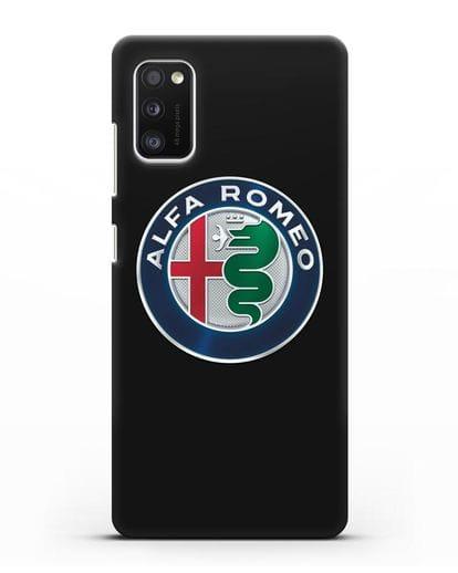 Чехол с логотипом Alfa Romeo силикон черный для Samsung Galaxy A41 [SM-A415F]