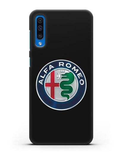 Чехол с логотипом Alfa Romeo силикон черный для Samsung Galaxy A50 [SM-A505F]