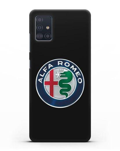 Чехол с логотипом Alfa Romeo силикон черный для Samsung Galaxy A51 [SM-A515F]