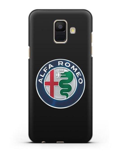 Чехол с логотипом Alfa Romeo силикон черный для Samsung Galaxy A6 2018 [SM-A600F]