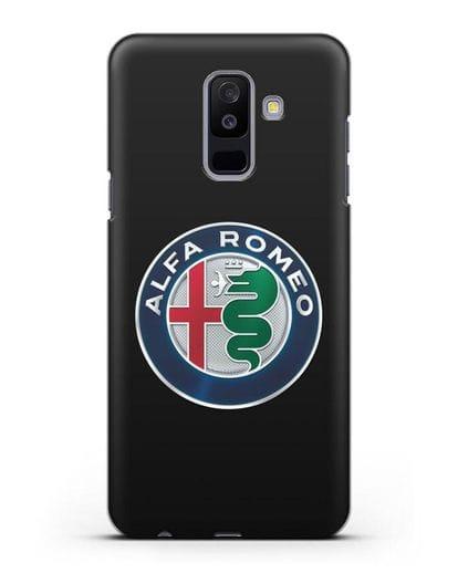 Чехол с логотипом Alfa Romeo силикон черный для Samsung Galaxy A6 Plus 2018 [SM-A605F]