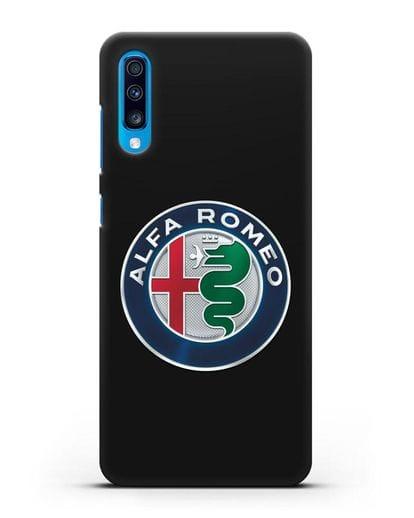 Чехол с логотипом Alfa Romeo силикон черный для Samsung Galaxy A70 [SM-A705F]