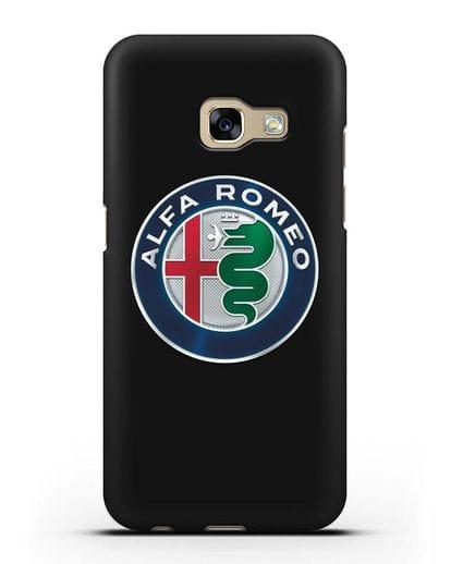 Чехол с логотипом Alfa Romeo силикон черный для Samsung Galaxy A7 2017 [SM-A720F]