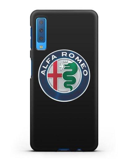 Чехол с логотипом Alfa Romeo силикон черный для Samsung Galaxy A7 2018 [SM-A750F]