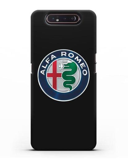Чехол с логотипом Alfa Romeo силикон черный для Samsung Galaxy A80 [SM-A805F]