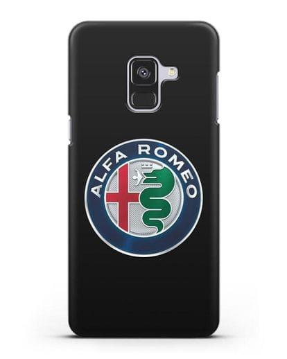 Чехол с логотипом Alfa Romeo силикон черный для Samsung Galaxy A8 [SM-A530F]