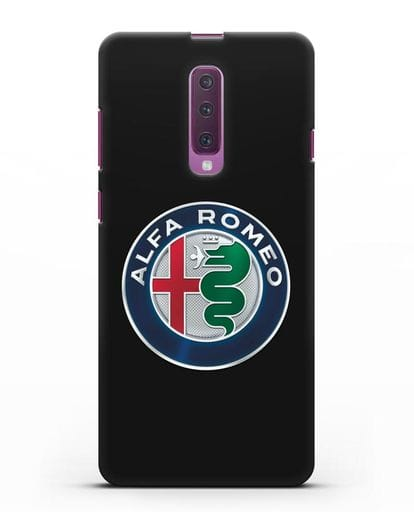 Чехол с логотипом Alfa Romeo силикон черный для Samsung Galaxy A90 [SM-A908N]