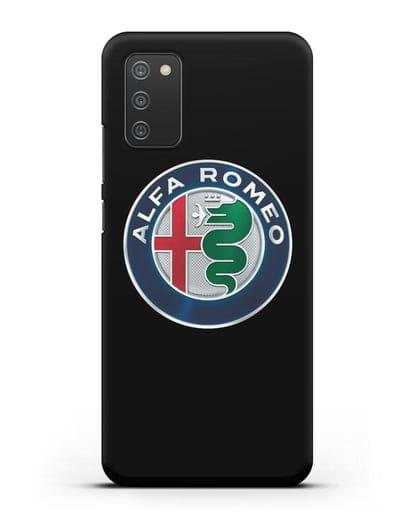 Чехол с логотипом Alfa Romeo силикон черный для Samsung Galaxy A02s [SM-A025F]