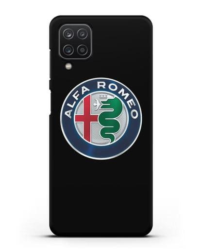 Чехол с логотипом Alfa Romeo силикон черный для Samsung Galaxy A12 [SM-A125F]