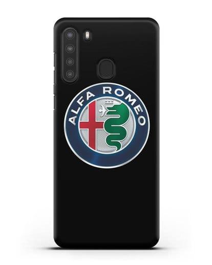 Чехол с логотипом Alfa Romeo силикон черный для Samsung Galaxy A21 [SM-A215]