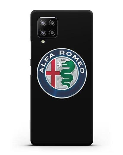 Чехол с логотипом Alfa Romeo силикон черный для Samsung Galaxy A42 [SM-A426B]