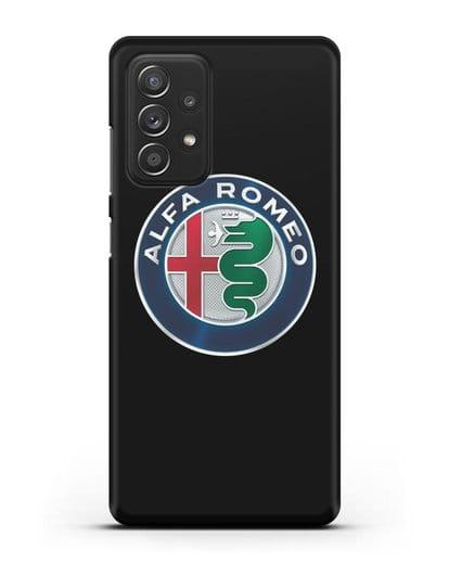 Чехол с логотипом Alfa Romeo силикон черный для Samsung Galaxy A52 5G [SM-A5260]