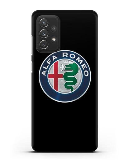 Чехол с логотипом Alfa Romeo силикон черный для Samsung Galaxy A72 [SM-A725F]