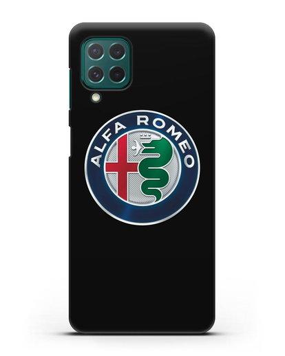 Чехол с логотипом Alfa Romeo силикон черный для Samsung Galaxy M62 [SM-M625F]
