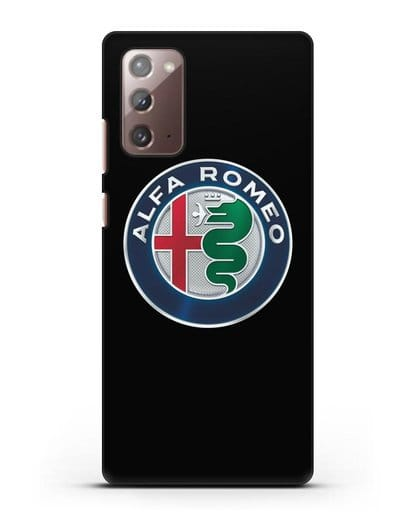 Чехол с логотипом Alfa Romeo силикон черный для Samsung Galaxy Note 20 [SM-N980F]