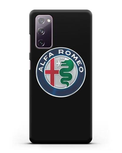 Чехол с логотипом Alfa Romeo силикон черный для Samsung Galaxy S20 FE [SM-G780F]