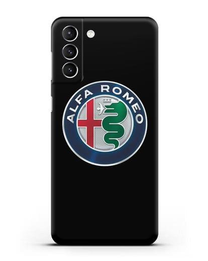 Чехол с логотипом Alfa Romeo силикон черный для Samsung Galaxy S21 Plus [SM-G996B]
