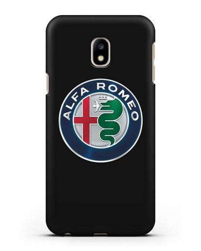Чехол с логотипом Alfa Romeo силикон черный для Samsung Galaxy J3 2017 [SM-J330F]