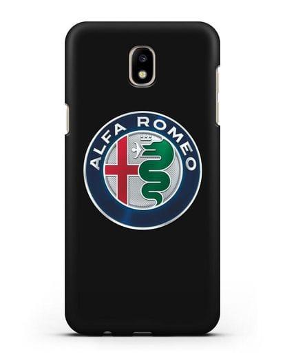 Чехол с логотипом Alfa Romeo силикон черный для Samsung Galaxy J5 2017 [SM-J530F]