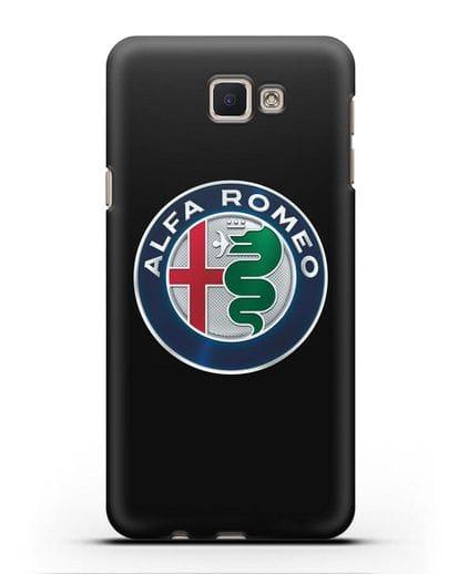 Чехол с логотипом Alfa Romeo силикон черный для Samsung Galaxy J5 Prime [SM-G570]