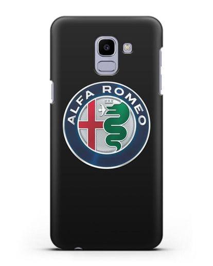 Чехол с логотипом Alfa Romeo силикон черный для Samsung Galaxy J6 2018 [SM-J600F]